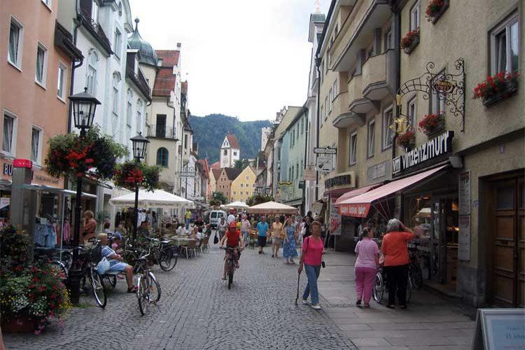 Füssen i enden av Tyskland