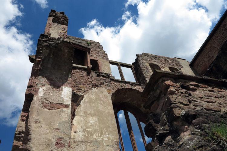 Mystisk slott i Heidelberg