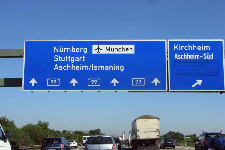 Campingvogn på Autobahn