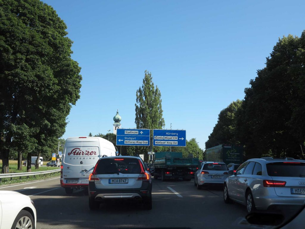 Midt i München sentrum