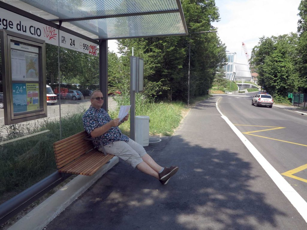 Bussen til Lausanne